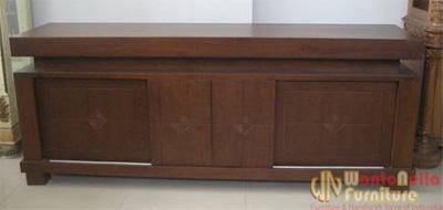 TV Cabinet Jati Minimalis MB-08 Jual Bufet TV Minimalis