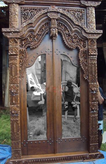 Pintu Gebyok Ukiran Jati Pintu KacaGebyok Asli Kudus