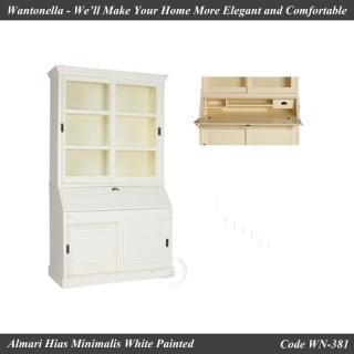 Bookcase Minimalis 2 Pintu Cat Putih Duko