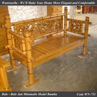 Bale bale Jati Minimalis Model Bambu