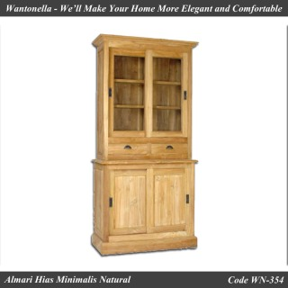 Almari Hias Minimalis Natural 2 Pintu