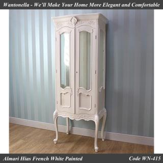 Almari Hias French White Painted