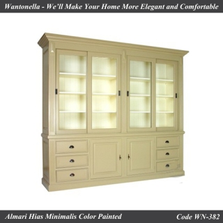 Bookcase Minimalis Mahogany 4 Pintu