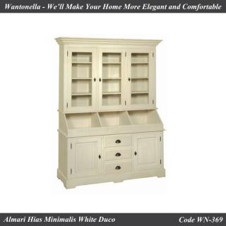Bookcase Minimalis Putih Duko 3 Pintu