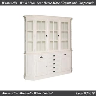 bookcase Minimalis 3 Pintu Cat Putih