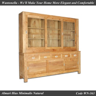 Bookcase Natural Jati 3 Pintu