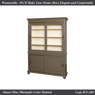 Bookcase Minimalis Custom Color 2 Pintu