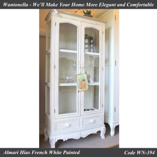 Almari Hias French White Painted