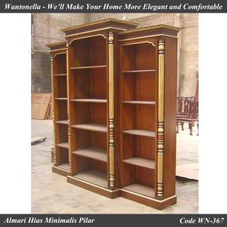 Bookcase Minimalis Mahogany Pilar