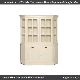 Bookcase Minimalis 2 Pintu Cat Putih