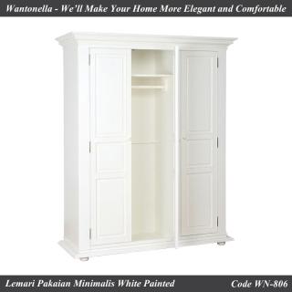 Lemari Minimalis 3 Pintu Cat Putih
