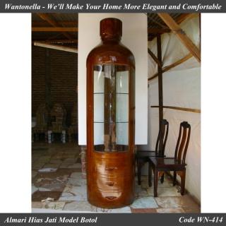 Almari Hias Minimalis Model Botol